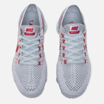Женские кроссовки Nike Air Vapormax Flyknit Pure Platinum/University Red/Wolf Grey фото- 4