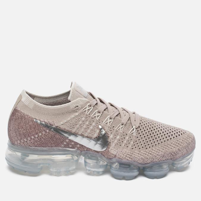 Женские кроссовки Nike Air Vapormax Flyknit String/Chrome/Sunset Glow/Taupe Grey