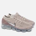 Женские кроссовки Nike Air Vapormax Flyknit String/Chrome/Sunset Glow/Taupe Grey фото- 2