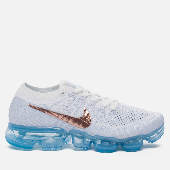 Женские кроссовки Nike Air Vapormax Flyknit Explorer Pack Summit White/Summit White/Hydrogen Blue