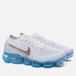 Женские кроссовки Nike Air Vapormax Flyknit Explorer Pack Summit White/Summit White/Hydrogen Blue фото- 2