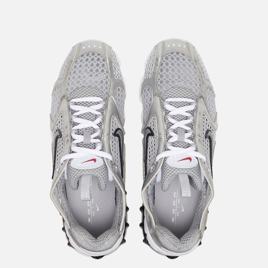 Женские кроссовки Nike Air Zoom Spiridon Cage 2 Light Smoke Grey/Metallic Silver