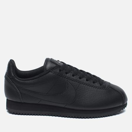 Nike Beautiful Classic Cortez Premium Women's Sneakers Black/Black