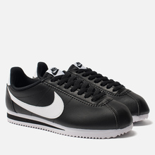 Женские кроссовки Nike Classic Cortez Leather Black/White фото- 1
