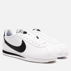 Женские кроссовки Nike Classic Cortez Leather White/Black/White