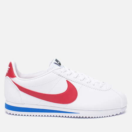 Женские кроссовки Nike Classic Cortez Leather White/Varsity Red/Varsity Roya