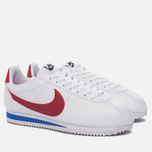 Женские кроссовки Nike Classic Cortez Leather White/Varsity Red/Varsity Royal фото- 1