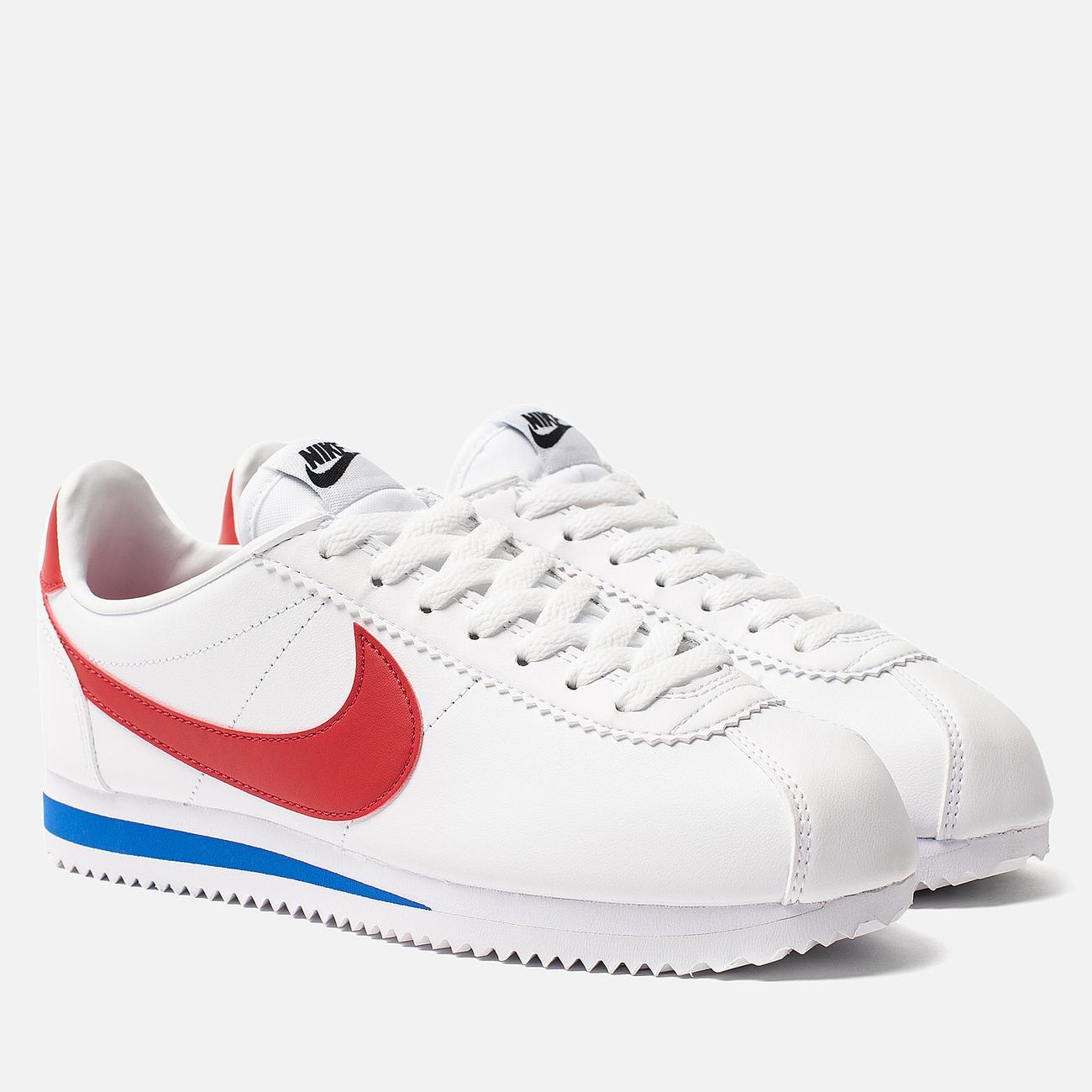 Женские кроссовки Nike Classic Cortez Leather White/Varsity Red/Varsity Royal