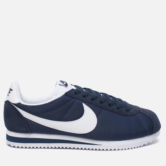 Женские кроссовки Nike Classic Cortez Nylon Obsidian/White