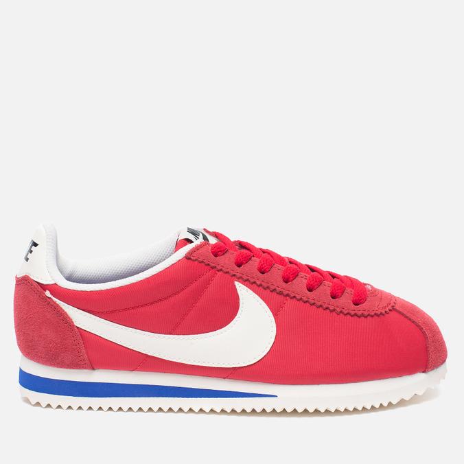 Женские кроссовки Nike Classic Cortez Nylon Premium University Red/Sail/Old Royal