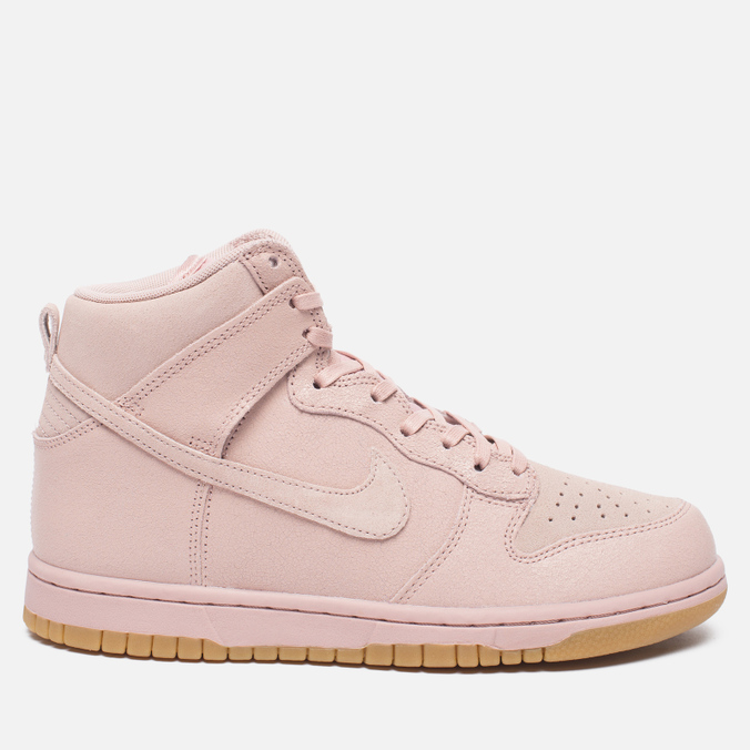 Женские кроссовки Nike Dunk High Premium Pink Oxford/Bright Melon