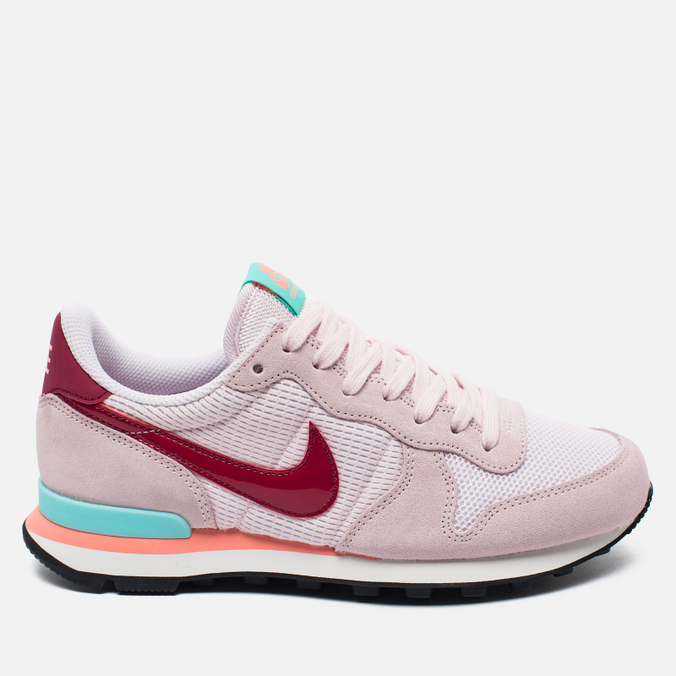 Женские кроссовки Nike Internationalist Pearl Pink/Noble Red/Hyper Turq