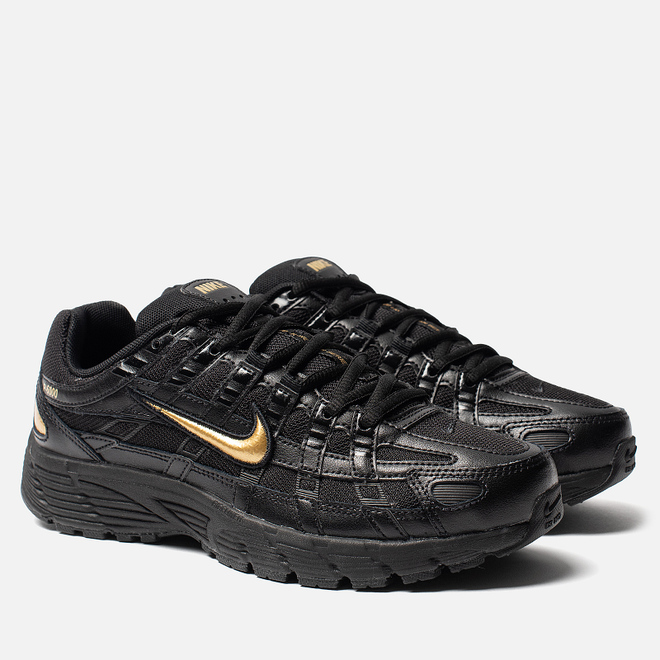 Женские кроссовки Nike P-6000 Essential Black/Metallic Gold/Off Noir