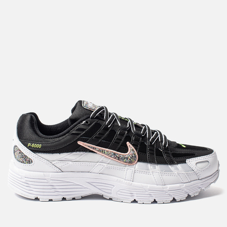 Женские кроссовки Nike P-6000 SE Black/Multi-Color/White/Coral Stardust