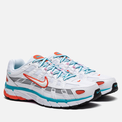 Женские кроссовки Nike P-6000 White/White/Oracle Aqua/Magic Flamingo