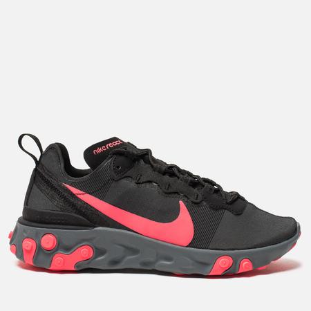 Женские кроссовки Nike React Element 55 Black/Solar Red/Cool Grey/Dark Grey