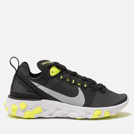 Женские кроссовки Nike React Element 55 Black/Volt/Cool Grey/White