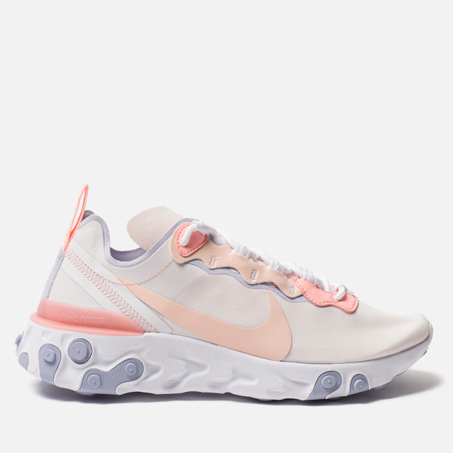 Женские кроссовки Nike React Element 55 Pale Pink/Washed Coral/Oxygen Purple