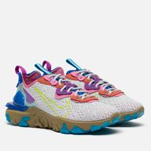 Женские кроссовки Nike React Vision Photon Dust/Lemon Venom/Hyper Blue фото- 0