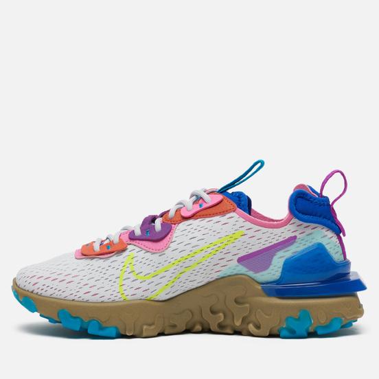 Женские кроссовки Nike React Vision Photon Dust/Lemon Venom/Hyper Blue