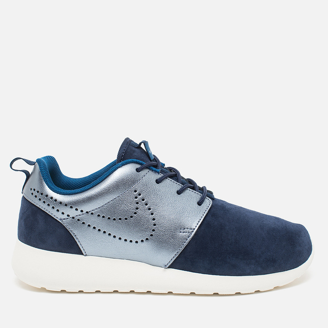 Женские кроссовки Nike Roshe One Premium Suede Midnight Navy