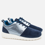 Женские кроссовки Nike Roshe One Premium Suede Midnight Navy фото- 1