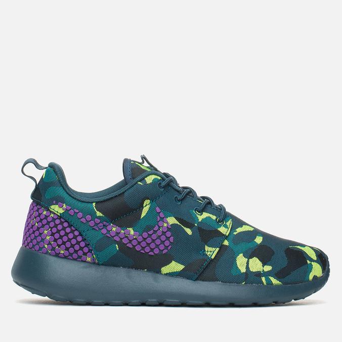 Женские кроссовки Nike Roshe One Premium Plus Mid Teal/Purple/Emerald