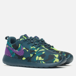 Женские кроссовки Nike Roshe One Premium Plus Mid Teal/Purple/Emerald фото- 1