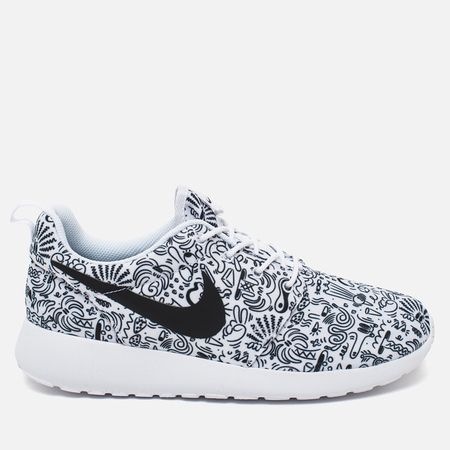 Nike Roshe One Print Premium Doodle Women's Sneakers White/Black