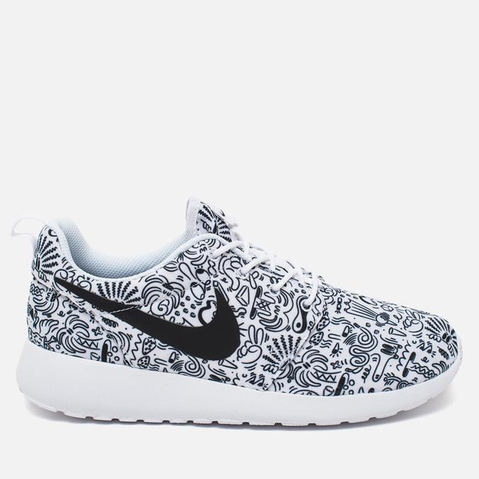 Женские кроссовки Nike Roshe One Print Premium Doodle White/Black
