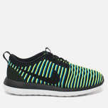 Nike Roshe Two Flyknit Women's Sneakers Black/Photo Blue/Volt photo- 0