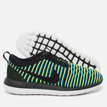 Женские кроссовки Nike Roshe Two Flyknit Black/Photo Blue/Volt фото- 2