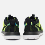 Nike Roshe Two Flyknit Women's Sneakers Black/Photo Blue/Volt photo- 3