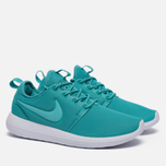 Женские кроссовки Nike Roshe Two Turquoise/White фото- 2