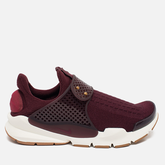 Женские кроссовки Nike Sock Dart Night Maroon/White/Gum Light Brown