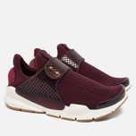 Женские кроссовки Nike Sock Dart Night Maroon/White/Gum Light Brown фото- 1