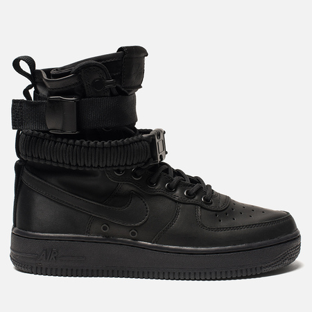 Женские кроссовки Nike Special Field Air Force 1 Black/Black/Black/Oil Grey