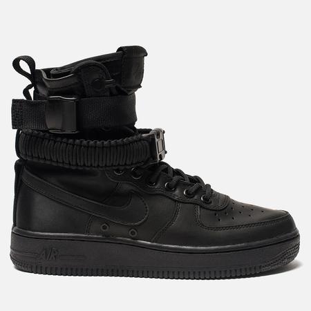 Женские кроссовки Nike Special Field Air Force 1 Black/Black/Black/Oil Grey