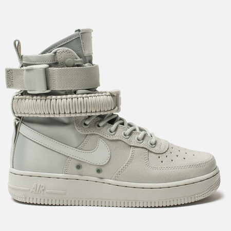 Женские кроссовки Nike Special Field Air Force 1 Light Silver/Light Silver/Mica Green
