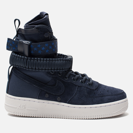 Женские кроссовки Nike Special Field Air Force 1 Midnight Navy/Midnight Navy/White