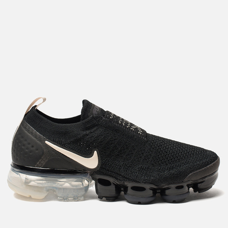 Женские кроссовки Nike Vapormax Flyknit Moc 2 Black/Light Cream/White/Thunder Grey