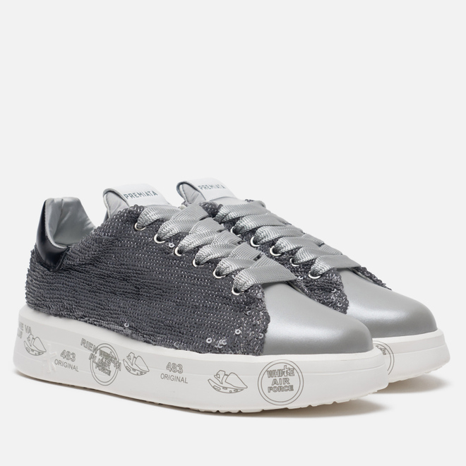 Женские кроссовки Premiata Belle 4538 Silver Grey
