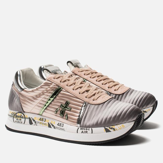 Женские кроссовки Premiata Conny 3617 Grey/Pink