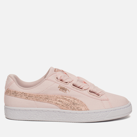Женские кроссовки Puma Basket Heart Canvas Pearl/White/Rose Gold