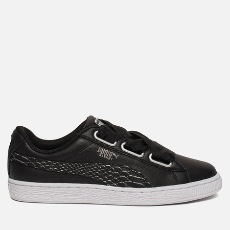 Женские кроссовки Puma Basket Heart Oceanaire Black/White