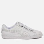 Женские кроссовки Puma Basket Heart Oceanaire White/White фото- 0