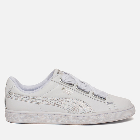 Женские кроссовки Puma Basket Heart Oceanaire White/White