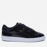 Женские кроссовки Puma Basket Heart Patent Black/Black/White фото- 0