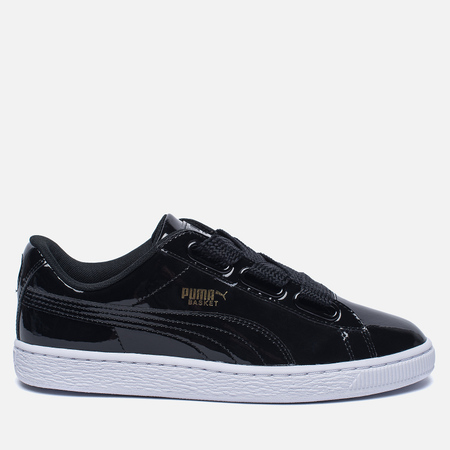 Женские кроссовки Puma Basket Heart Patent Black/Black/White