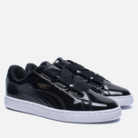 Женские кроссовки Puma Basket Heart Patent Black/Black/White фото- 2